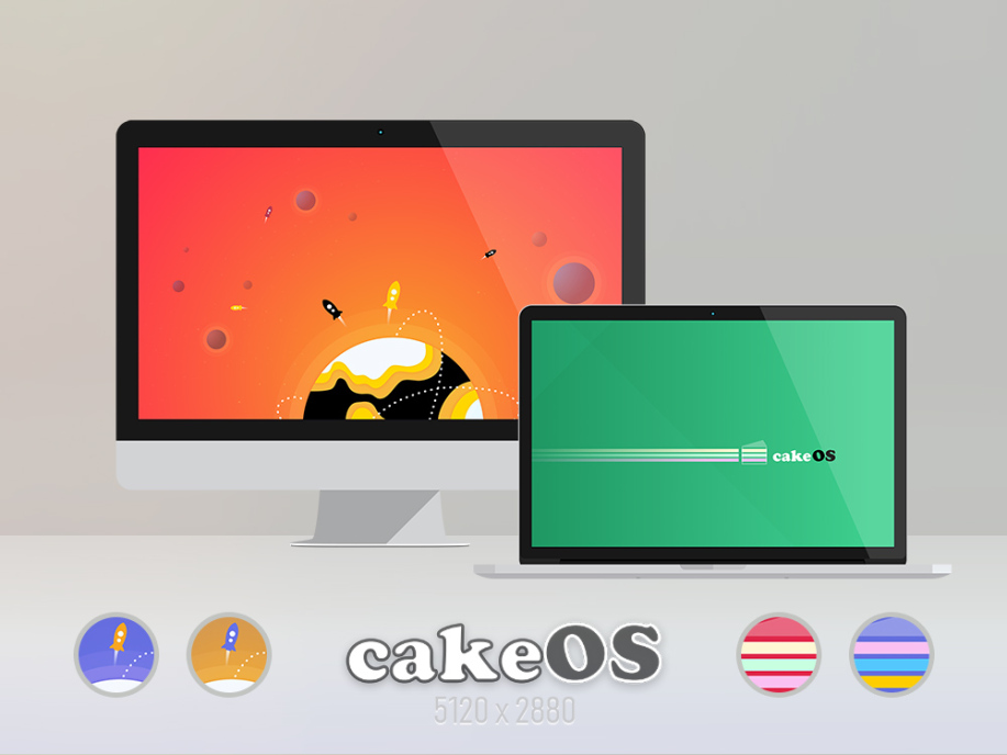 cakeOS Colors Wallpaper