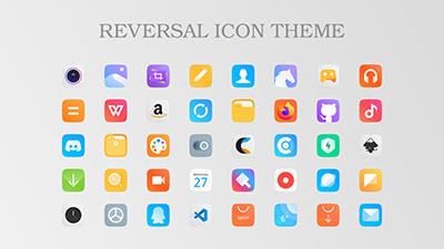 多彩矩形图标 Reversal icon theme